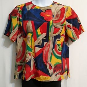 Alfred Dunner Size 14 Multicolored Blouse
